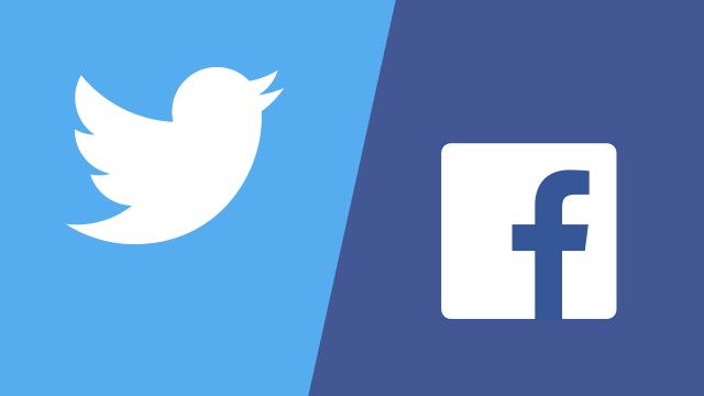 Twitter、Facebook